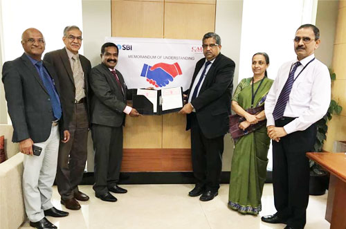 Signs MOU with State Bank of India